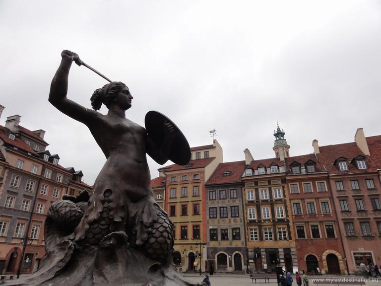 Mermaid Statue in Warsaw © Guillaume Speurt/Flickr