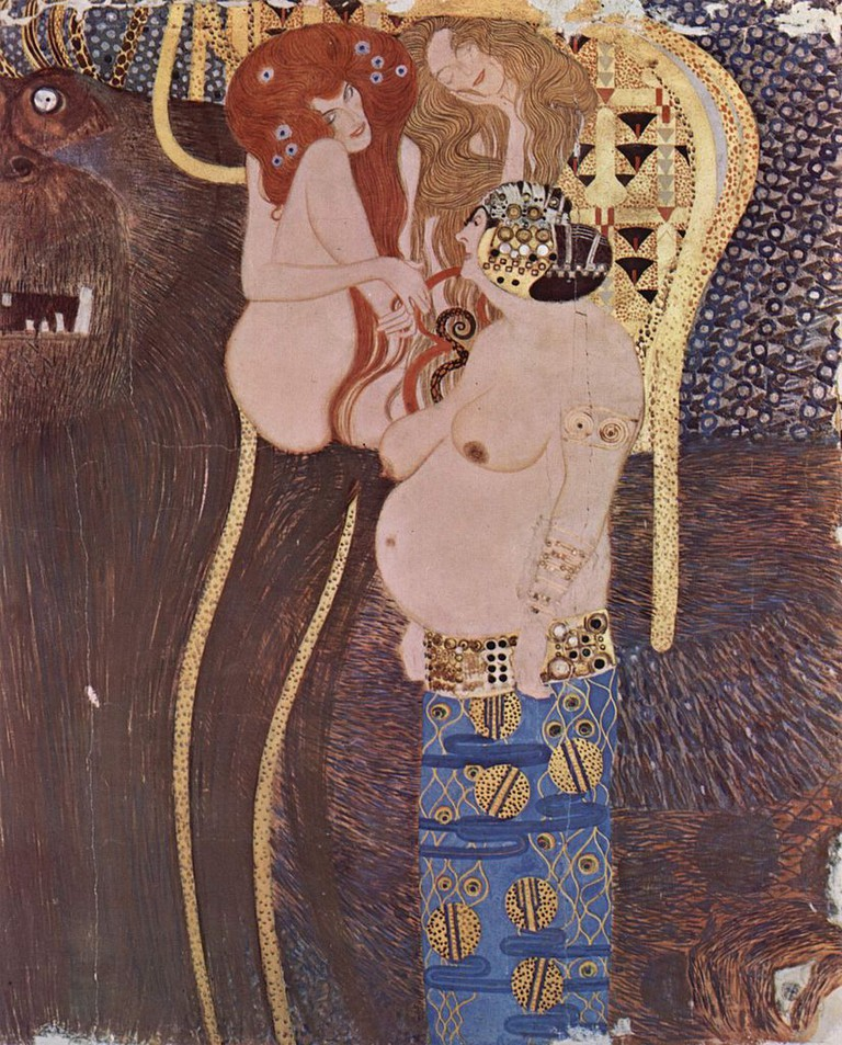 Gustav Klimt, Detail from the Beethoven Frieze, 1902