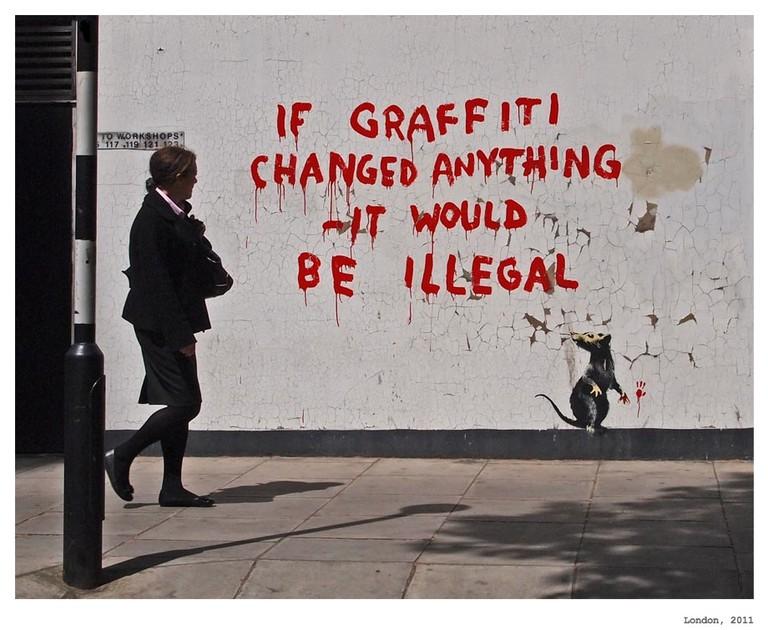 Banksy | © Francisco Huguenin Uhlfelder/Flickr