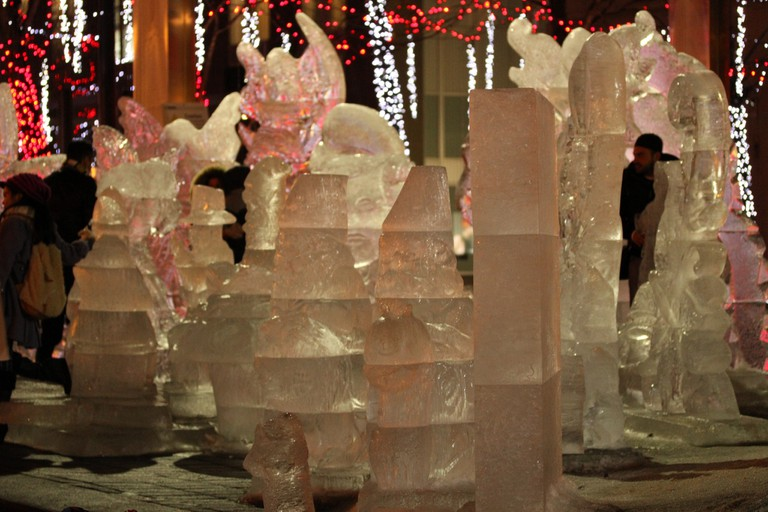 Ice Sculptures in Yorkville | © Danielle Scott / Flickr