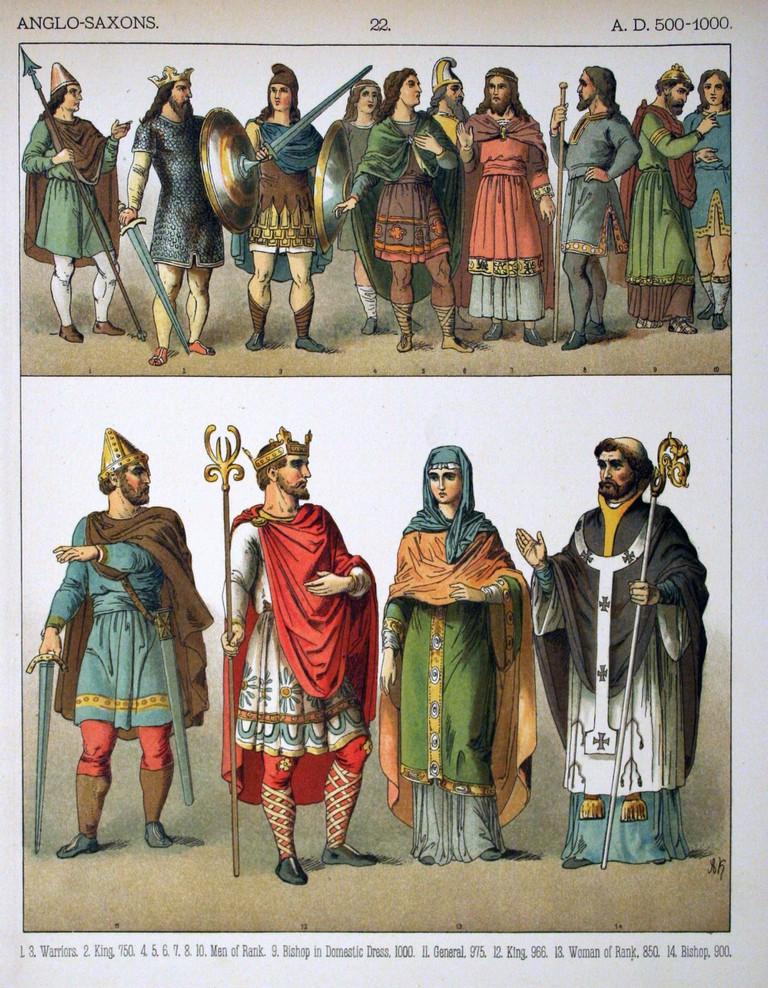 A.D. 500-1000, Anglo-Saxons|©Albert Kretschmer/WikiCommons
