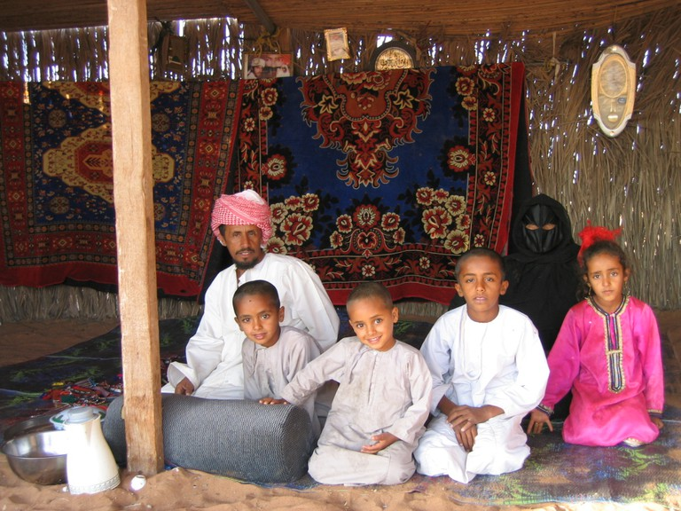 A Bedouin family in Oman