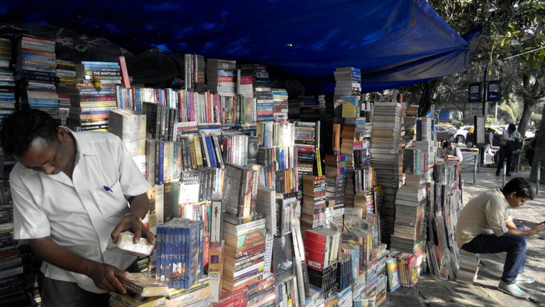 Stalls at book street | ©Aditi Mukund