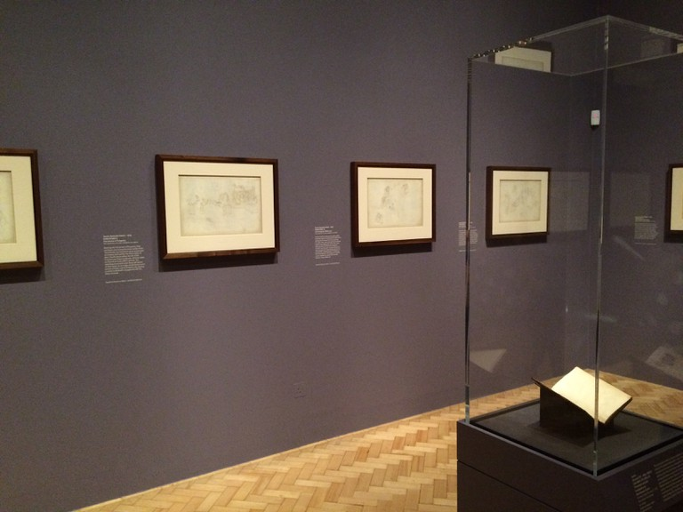 A view of Botticelli and Treasures from the Hamilton Collection at the Courtauld Gallery   © A.Winners