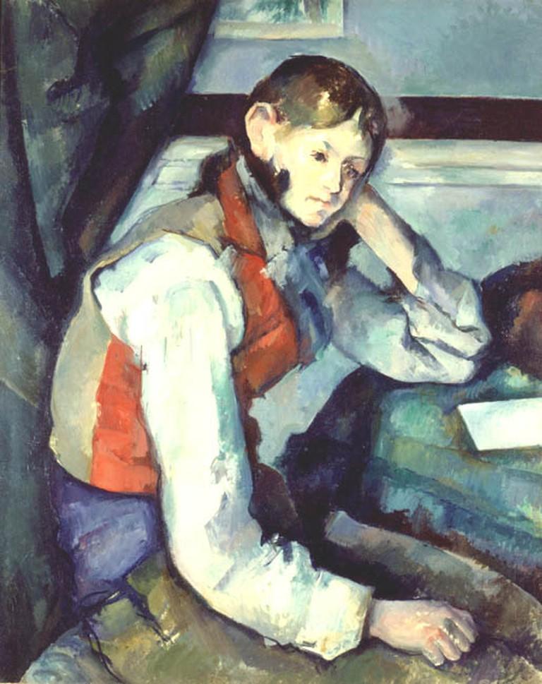 Cezanne, Boy in the Red Vest via Wikimedia Commons