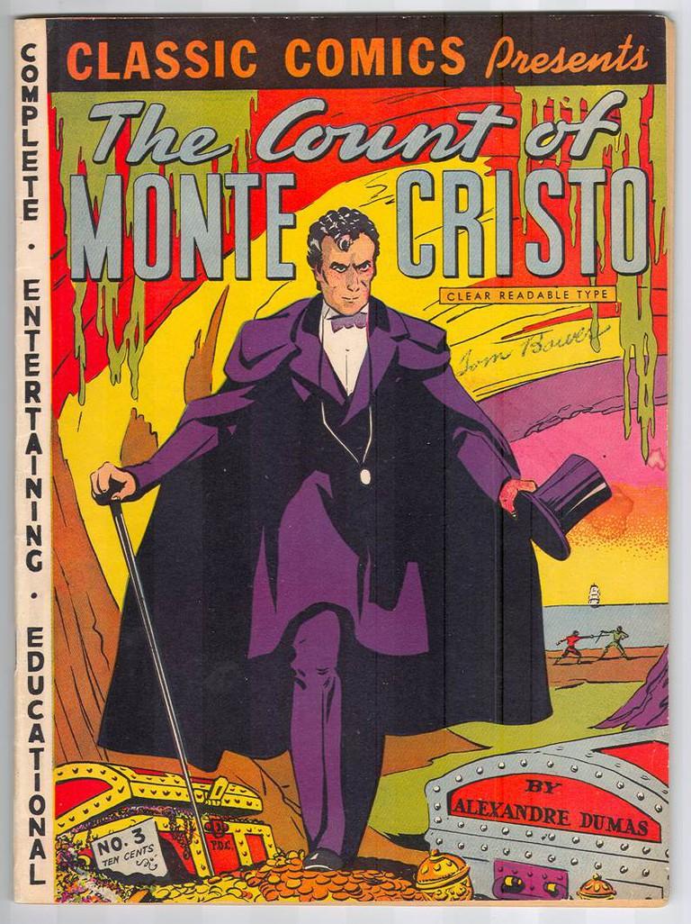 Classic Comics Cover of The Count of Monte Cristo/ © Classic Comics No. 3, 1942/ Wikimedia Commons