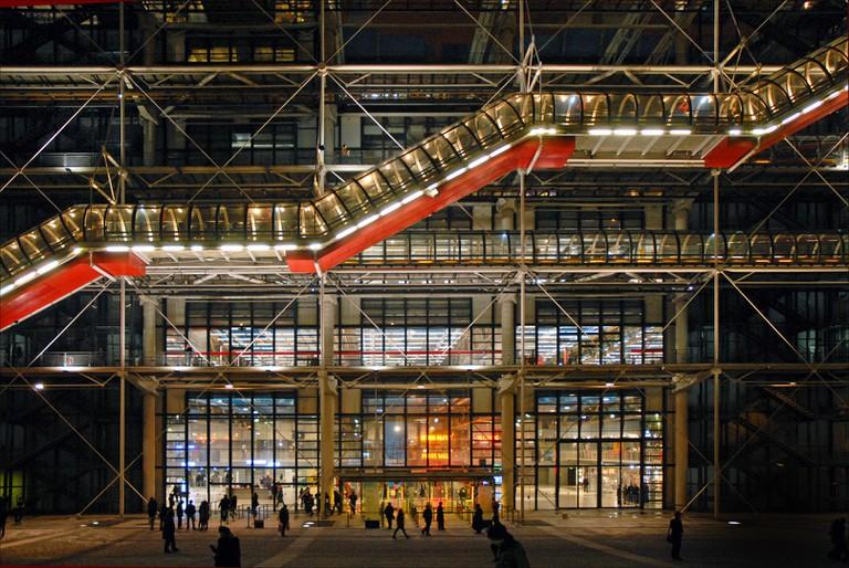 L'entrée du centre Georges Pompidou | © Jean-Pierre Dalbéra/Flickr