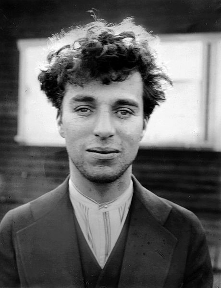 A photographic portrait of Charlie Chaplin as a young man, Hollywood © Scewing