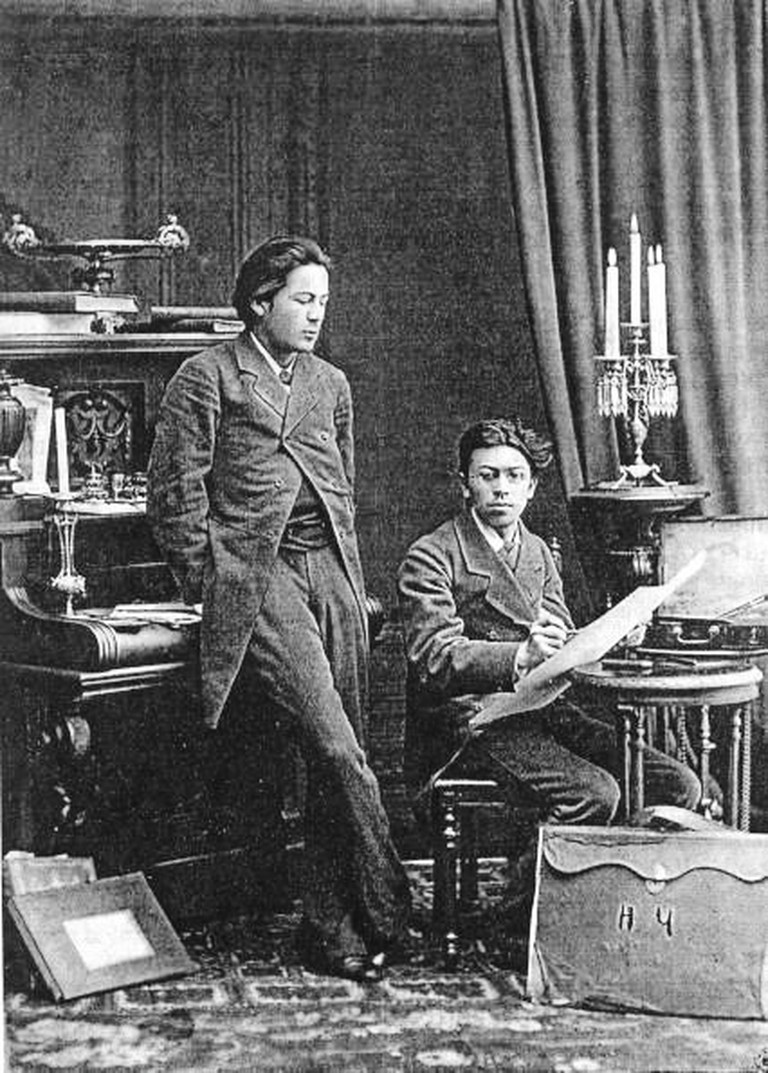 Chekhov with brother, 1882