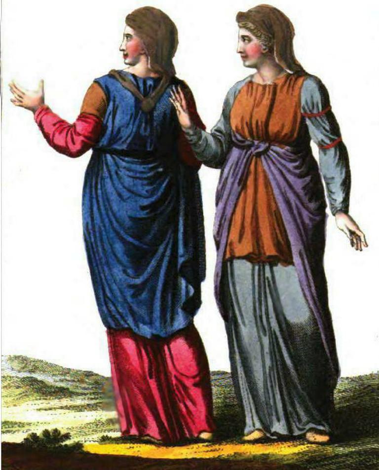 Dacian women|©By Robert de Spallart (19th century)/WikiCommons