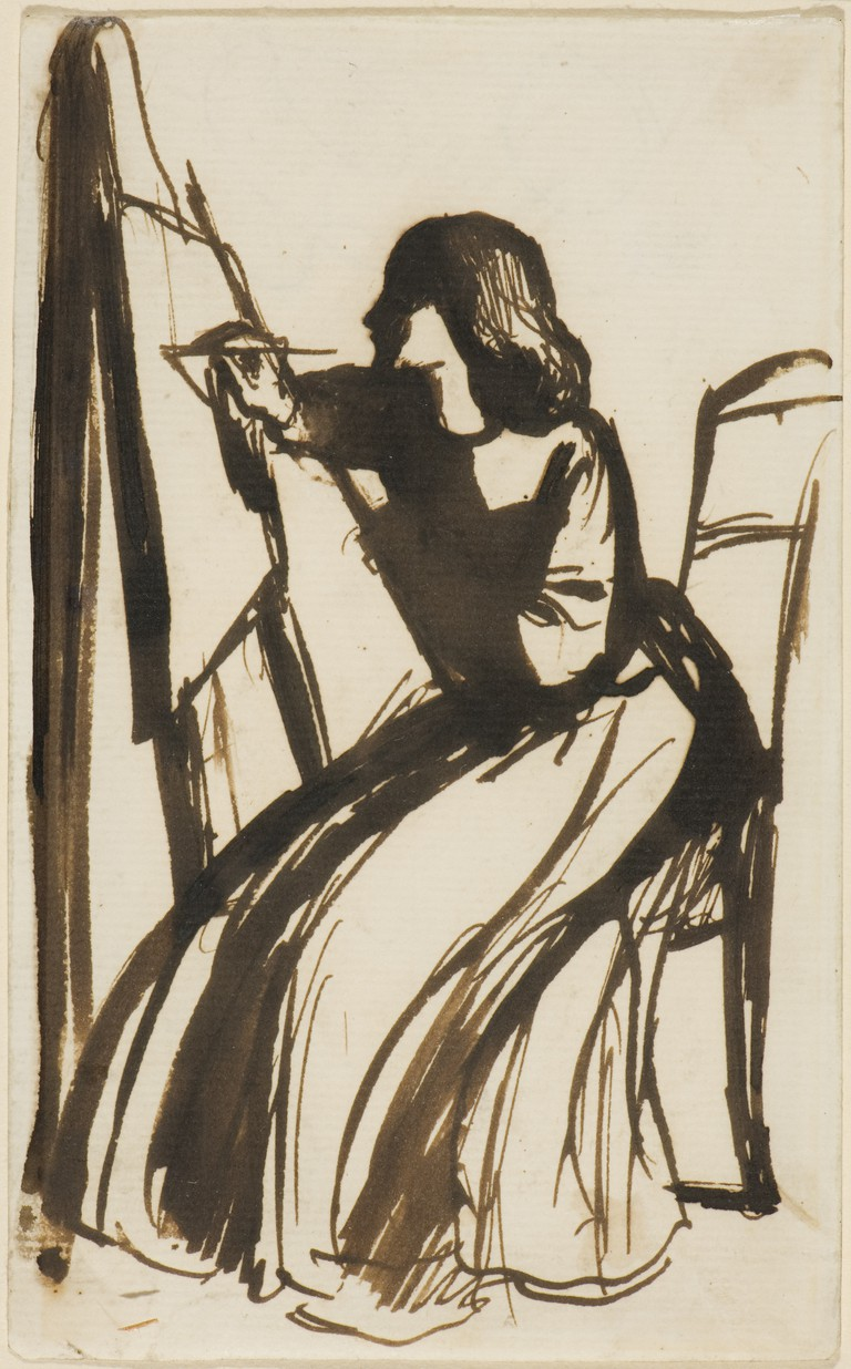 Figure 4, Elizabeth Siddal Seated At An Easel, Dante Gabriel Rossetti 1542 | © Dmitry Rozhkov/WikiCommons
