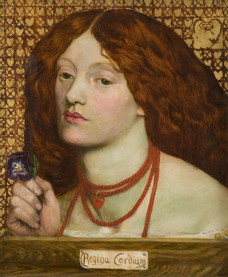 Figure 5, Regina Cordium by Dante Gabriel Rossetti, 1860; his marriage portrait of Siddal | © Micione/WikiCommons