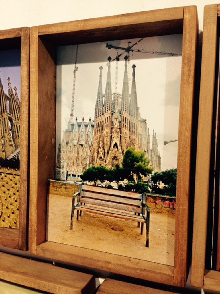 A collage of the Sagrada Familia | Courtesy of Galería Maxó