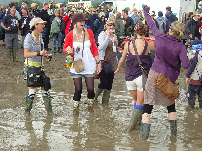 A typical Glastonbury situation | © Hilary Perkins/WikimediaCommons