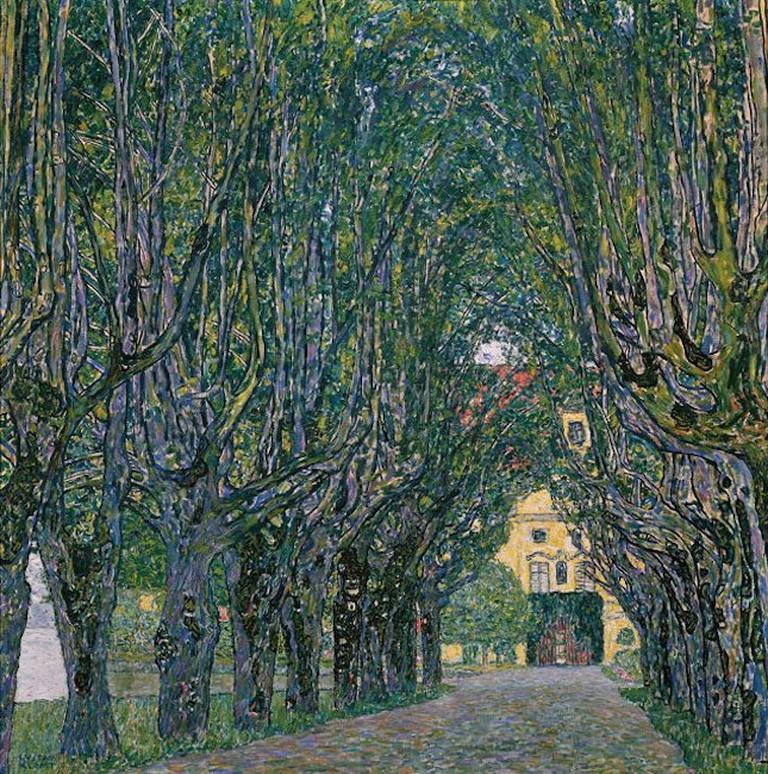 Gustav Klimt, Avenue in the Park of Schloss Kammer, 1912