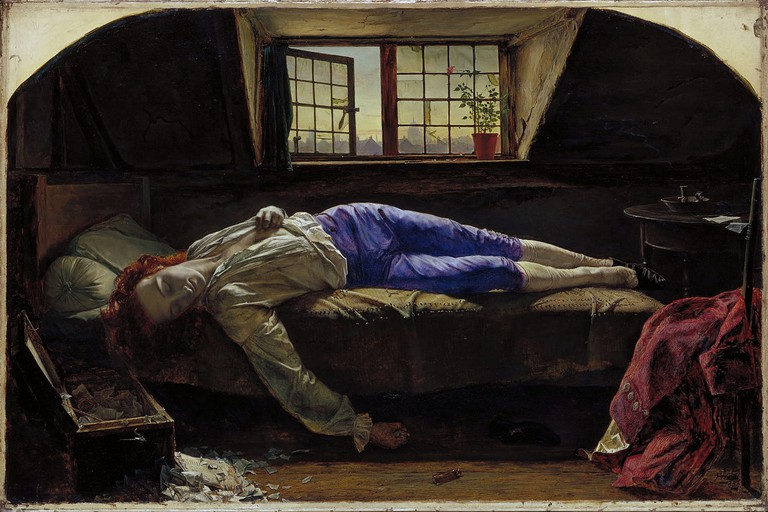 Figure 2, The Death of Chatterton by Henry Wallis at Tate Britain, 1856 | © Hohum/WikiCommons