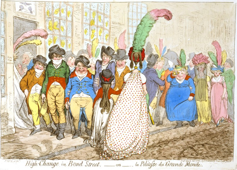 High-change in Bond Street, 1796|© James Gillray /WikiCommons