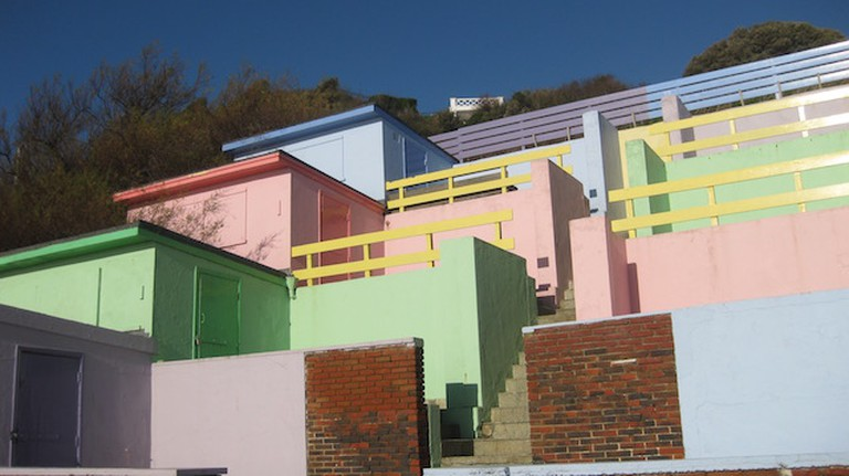 Beach Huts on Coastal Path Folkestone to Sandgate | © Kate Jefford