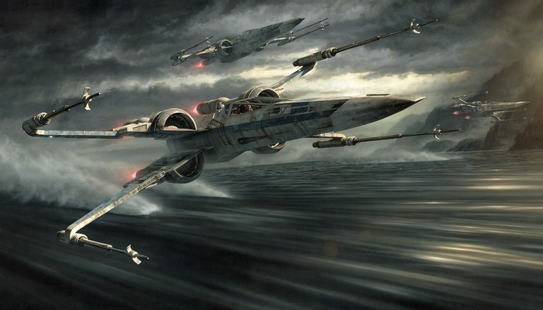 Incoming T-70 | Image courtesy of Silver K Gallery, © Disney and Lucasfilm