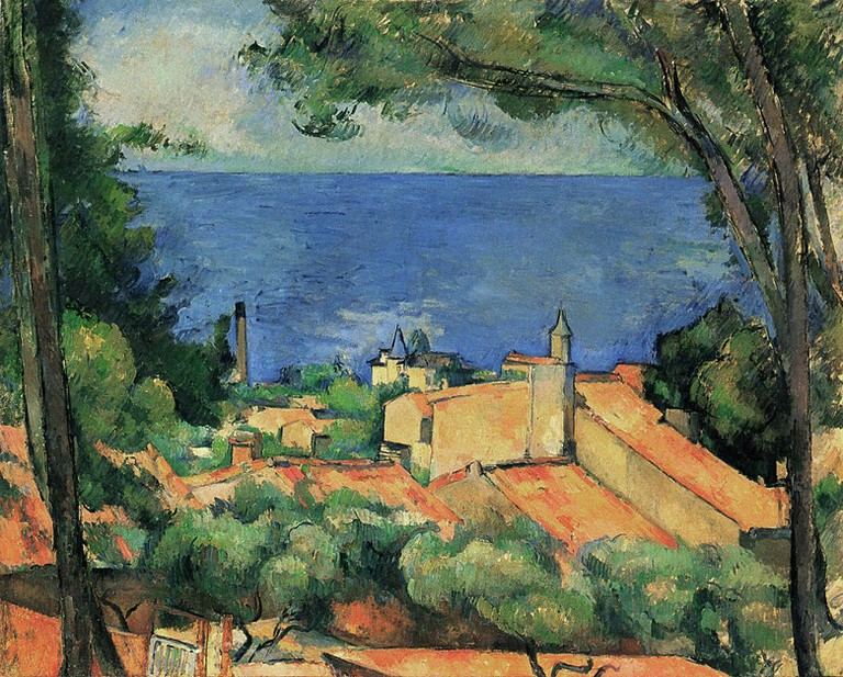 Cezanne, L'Estaque with Red Roofs via Wikimedia Commons