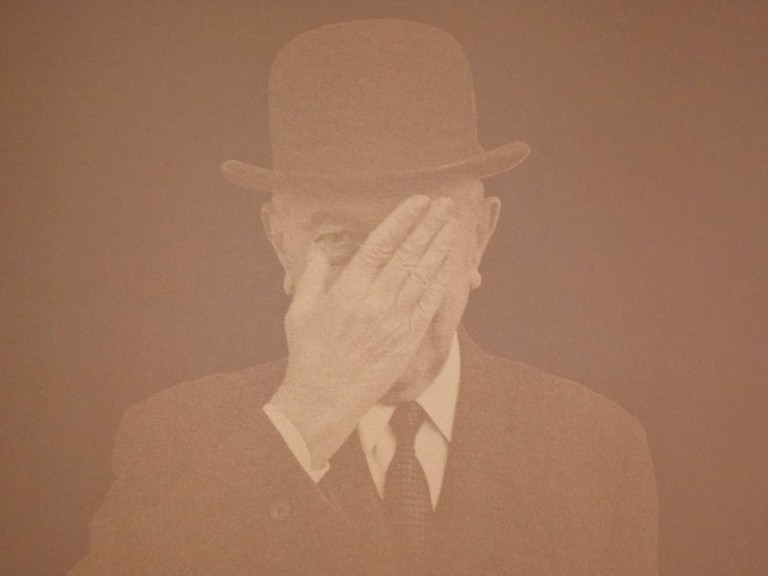 René Magritte. Picture taken by the author at the Magritte Museum on January 31st, 2016.