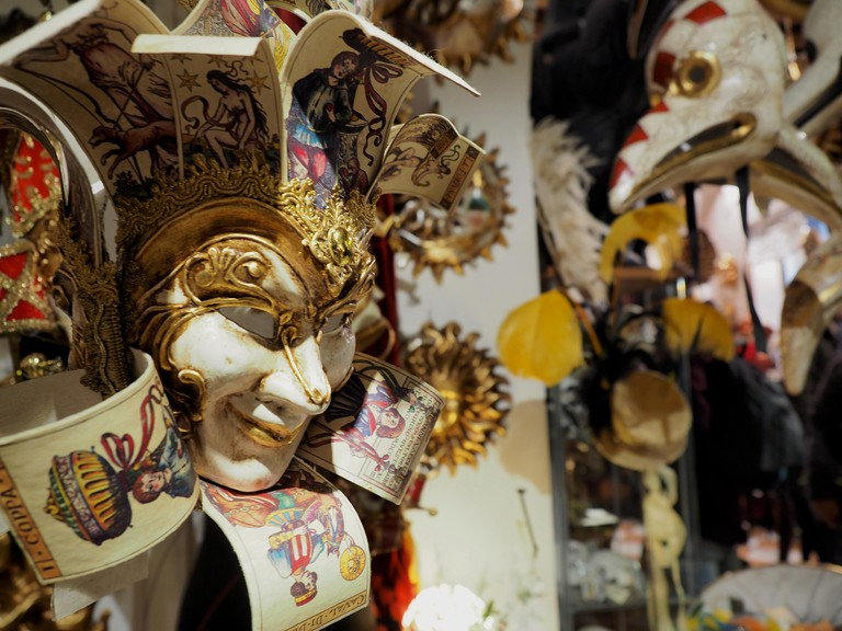 Masks in a traditional shop in Venice | Courtesy of Ester Bonadonna