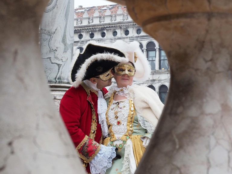 Traditional masked costumes in St. Mark's square | Courtesy of Ester Bonadonna