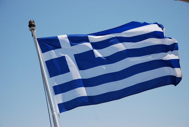 Greek Flag | © Trine Juel/Flickr