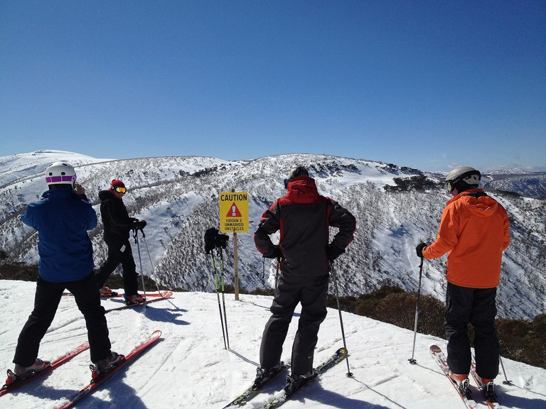 Skiing at Mt. Hotham