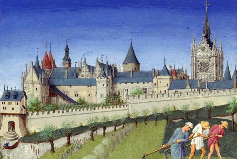 Palais de la Cité and Sainte-Chapelle circa 1400 | © WikiCommons