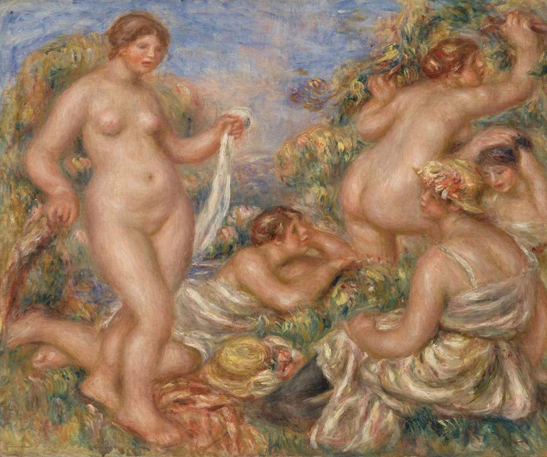 Pierre-Auguste Renoir, Composition, Five Bathers (Composition, cinq baigneuses), 1918. © 2012 The Barnes Foundation