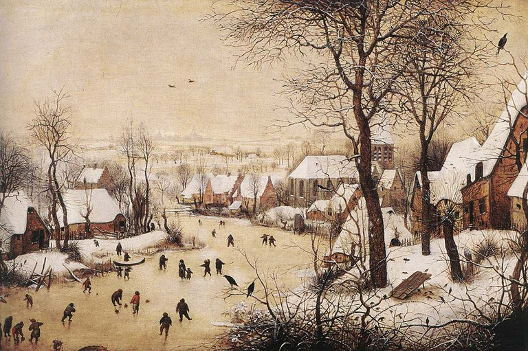 Winter Landscape with Skaters and Bird Trap by Pieter Bruegel | © Royal Museums of Fine Arts Belgium/WikiCommons