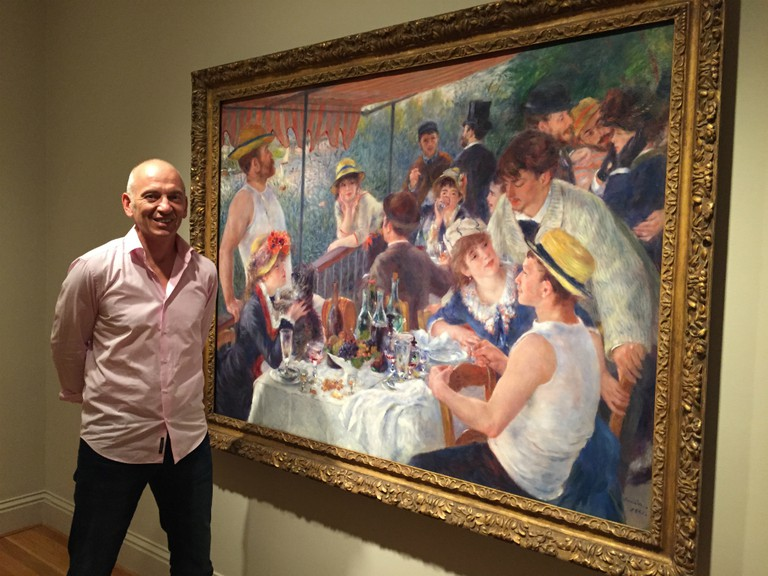 Renoir - Revered and Reviled Phil Grabsky in front of Luncheon of the Boating Party 1881 | © EXHIBITION ON SCREEN