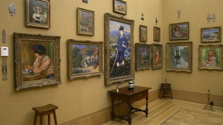 Renoir - Revered and Reviled, View of Renoir wall with Sailor Boy © EXHIBITION ON SCREEN