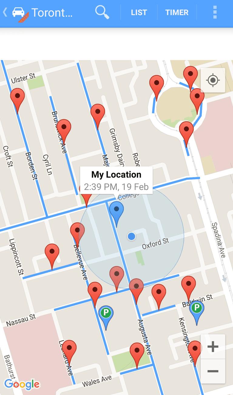 Toronto Parking Finder |© Toronto Parking Finder