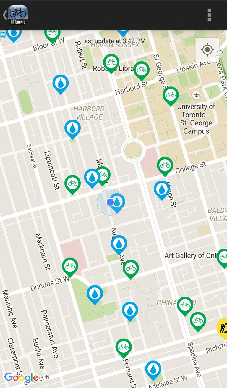 Toronto Cycling App | © Toronto Cycling