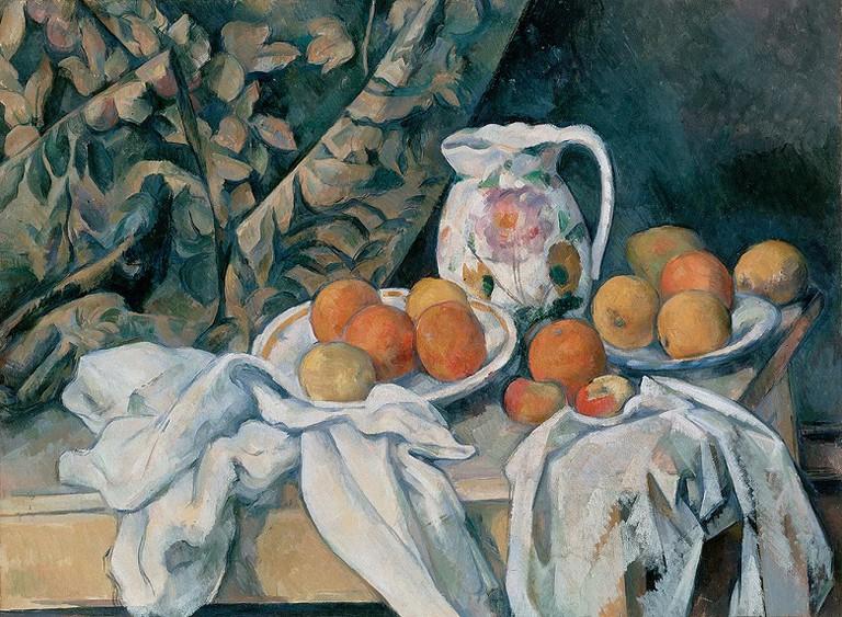 Cezanne, Still Life with Curtain via Wikimedia Commons