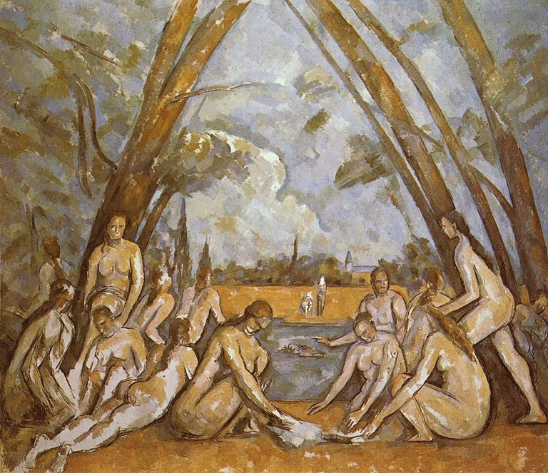Cezanne, The Bathers via Wikimedia Commons
