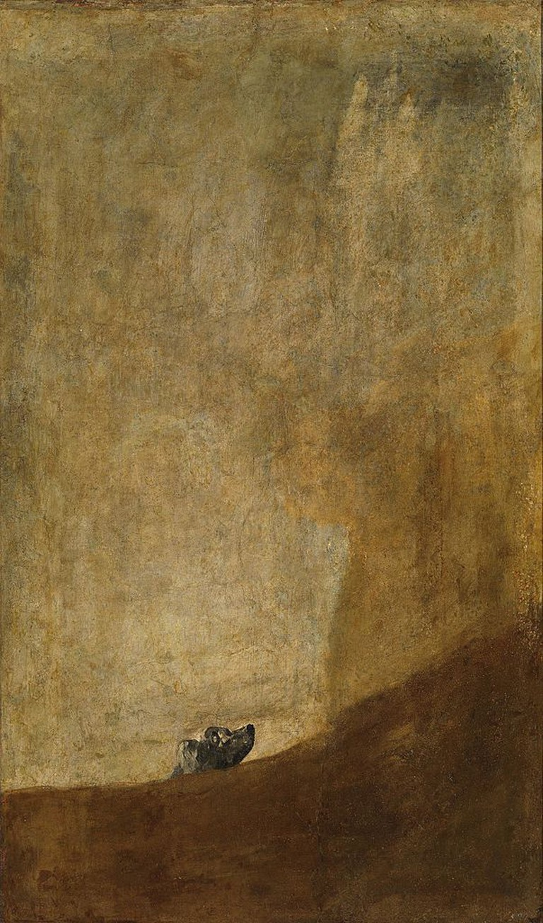 Francisco Goya, The Drowning Dog, 131 x 79 cm, 1820-1823, Museo del Prado | © Alonso de Mendoza/WikiCommons