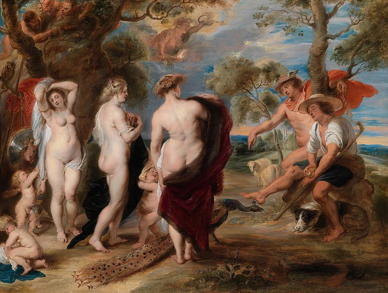 Peter Paul Rubens, The Judgement of Paris, 144.8 x 193.7 cm, The National Gallery, c. 1632-1635 | © Shuishouyue/WikiCommons