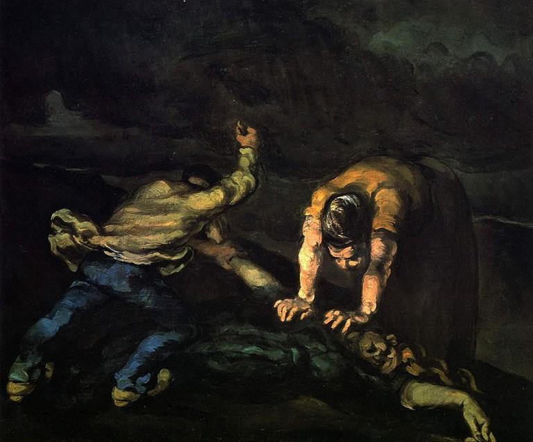 Cezanne, The Murder via Wikimedia Commons
