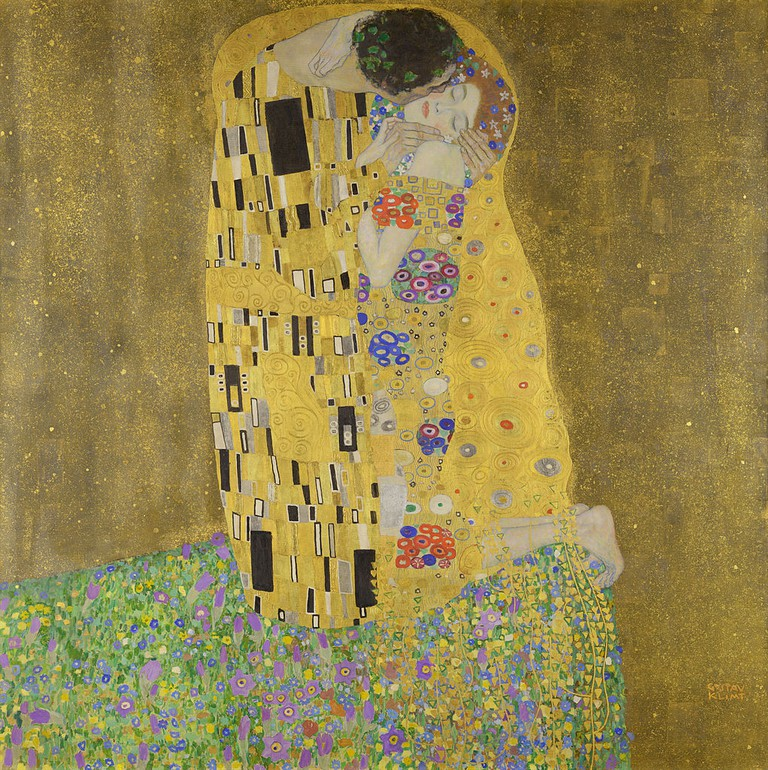 Gustav Klimt, Kiss (Lovers), 1907-1908