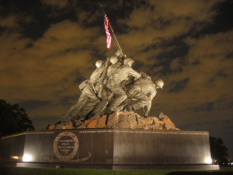 Rosenthal's photo was a model for the Marine Corps Memorial