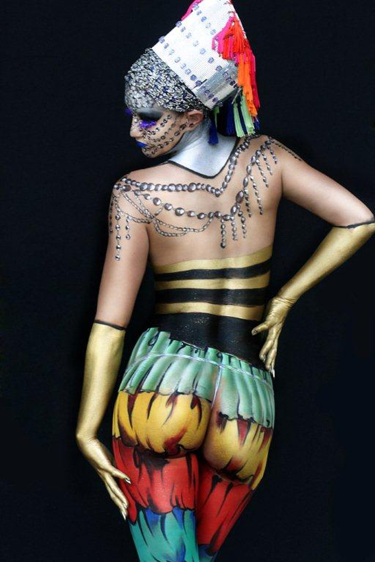 A model at the World Bodypainting Festival | © Alexwbf/WikimediaCommons