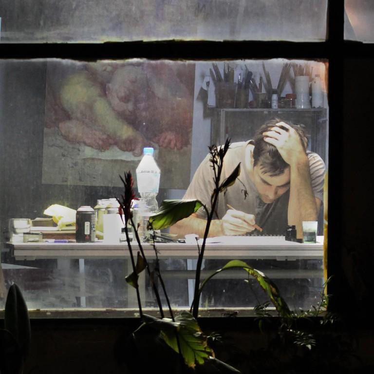 Enric Sant at work | Courtesy of Enric Sant