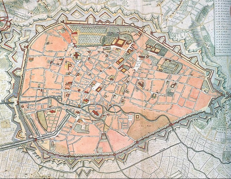 Map of Brussels / Wikicommons