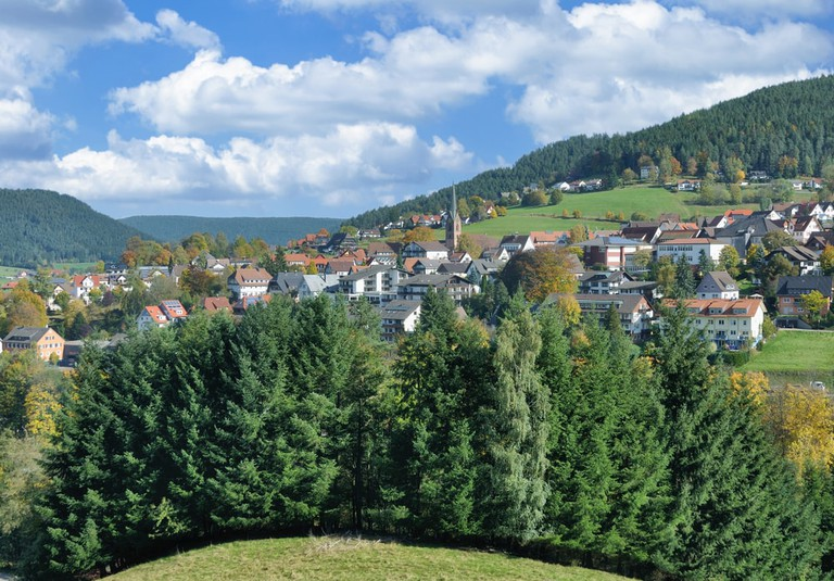 Village of Baiersbronn in Black Forest