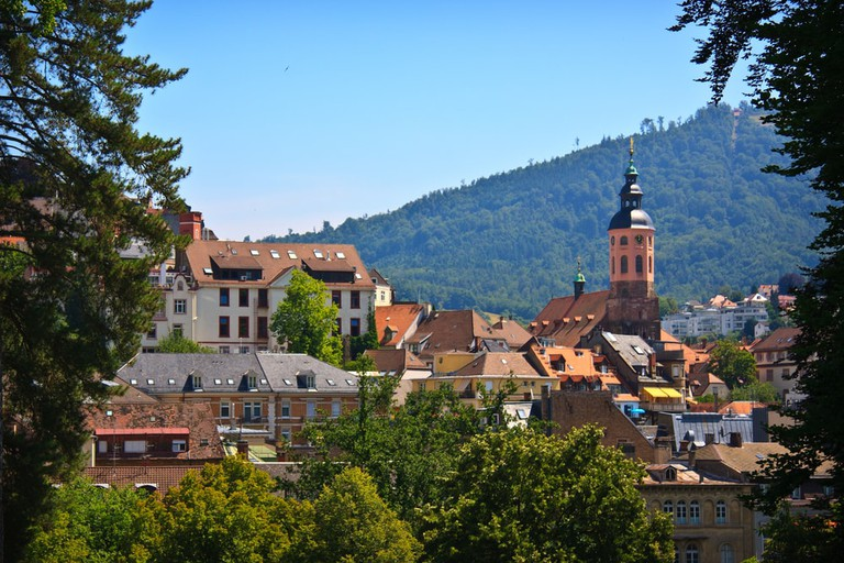Panoramic view of Baden-Baden, Germany
