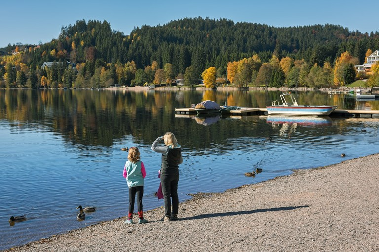 The shore of Titisee Lake in autumn, Germany