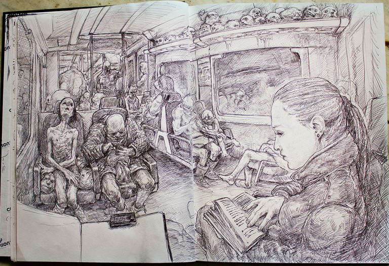 Drawings from Enric's notebook | Courtesy of Enric Sant
